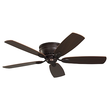 Latitude Run 52'' 5 Blade Fan; Oil Rubbed Bronze with Cherry/Walnut Blades