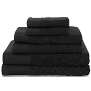 Latitude Run 6 Piece Towel Set; Black