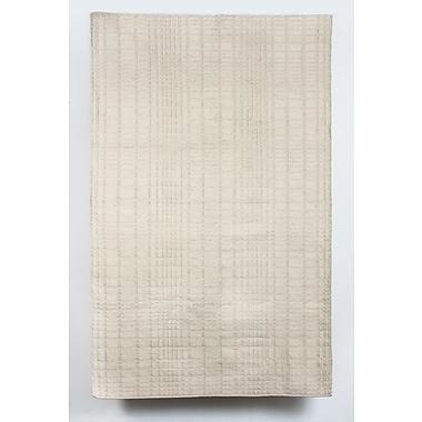 Latitude Run Darrius Wool Beige Indoor/Outdoor Area Rug; 6' x 9'