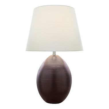 Latitude Run Bate 23'' Table Lamp; Dark Brown