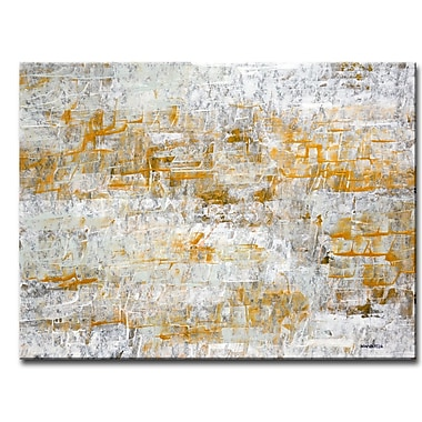 Varick Gallery 'Footprints I' Canvas Painting Print on Wrapped Canvas; 20'' H x 30'' W x 1.5'' D