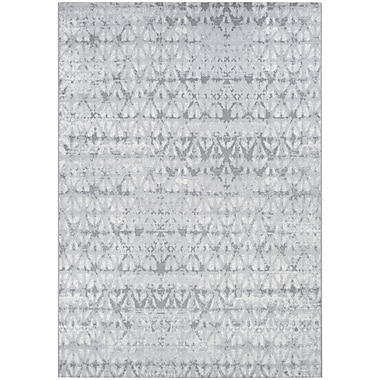 Williston Forge Aquinnah Grisaille Pearl/Champagne Area Rug; 2' x 3'11''