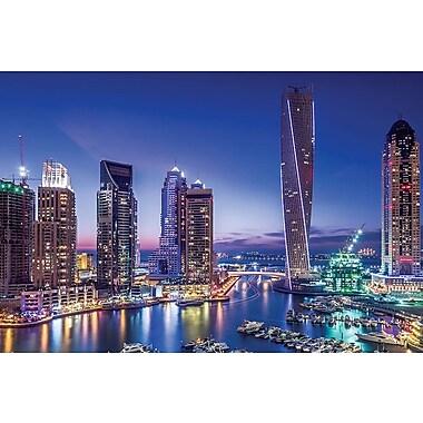 East Urban Home Dubai Marina Photographic Print on Wrapped Canvas; 12'' H x 18'' W x 1.5'' D
