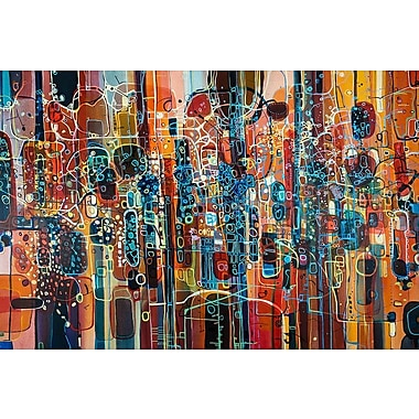 East Urban Home Wild Red Graphic Art on Wrapped Canvas; 40'' H x 60'' W x 1.5'' D