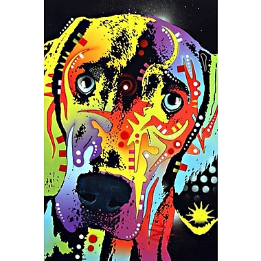 East Urban Home Weimaraner Graphic Art on Wrapped Canvas; 26'' H x 18'' W x 1.5'' D