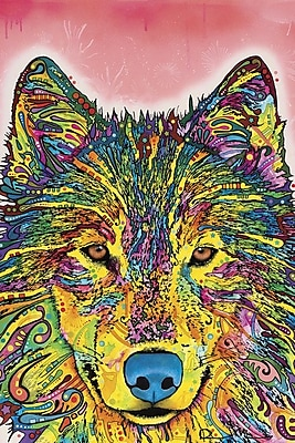 East Urban Home Wolf I Graphic Art on Wrapped Canvas; 12'' H x 8'' W x 0.75'' D