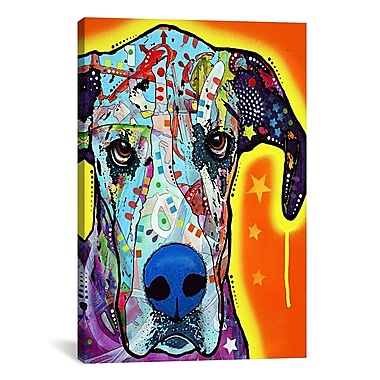 East Urban Home Great Dane Graphic Art on Wrapped Canvas; 12'' H x 8'' W x 0.75'' D