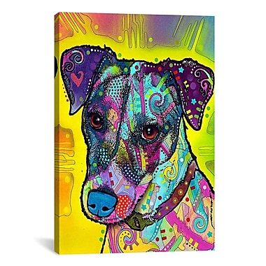 East Urban Home Jack RussellPainting Print on Canvas; 40'' H x 26'' W x 0.75'' D
