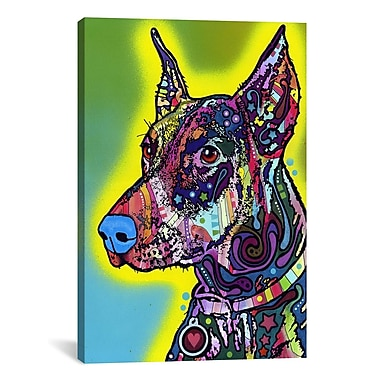 East Urban Home DobermanGraphic Art on Canvas; 26'' H x 18'' W x 1.5'' D