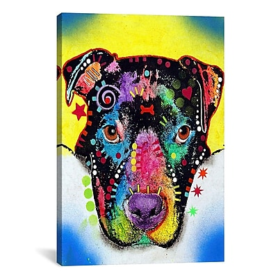 East Urban Home Otter Pit BullGraphic Art on Canvas; 40'' H x 26'' W x 0.75'' D