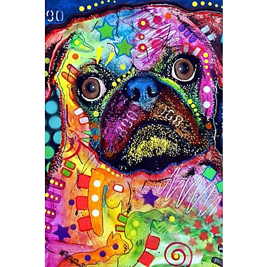 East Urban Home Pug 92309 Graphic Art on Wrapped Canvas; 18'' H x 12'' W x 1.5'' D