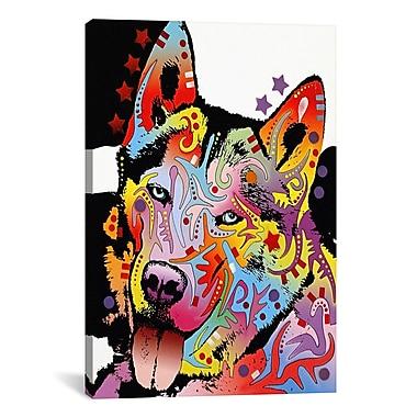 East Urban Home Siberian HuskyGraphic Art on Canvas; 12'' H x 8'' W x 0.75'' D