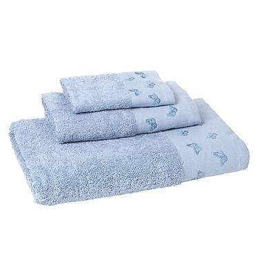 August Grove Downton 3 Piece Towel Set; Lake Blue