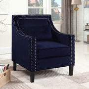 Alcott Hill Jamison Armchair; Navy Blue