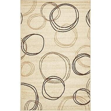 Ebern Designs Bryan Beige Area Rug; 5' x 8'