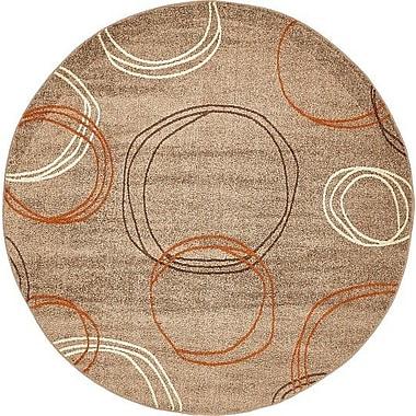 Ebern Designs Bryan Light Brown Area Rug; Round 8'