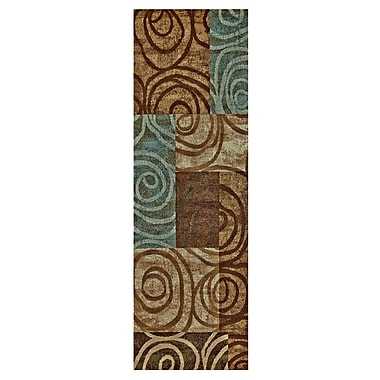 Ebern Designs Claribel Brown Area Rug; Runner 2'10'' x 7'10''