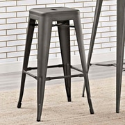 Williston Forge Ashlyn 30'' Square Bar Stool (Set of 2); Brown