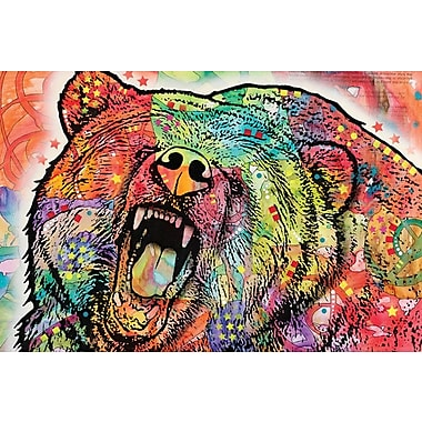 East Urban Home Grizzly Graphic Art on Wrapped Canvas; 18'' H x 26'' W x 0.75'' D