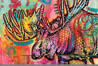 East Urban Home Moose Graphic Art on Wrapped Canvas; 8'' H x 12'' W x 0.75'' D