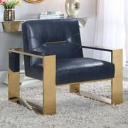 Everly Quinn Buckminster Armchair; Navy