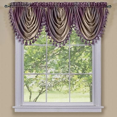 Fleur De Lis Living Alison Waterfall Window Valance; Aubergine