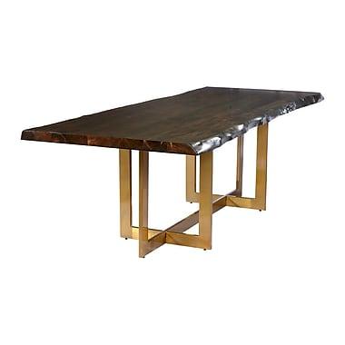 Everly Quinn Minni Acacia Wood Slab Dining Table; 78'' L x 39'' W