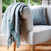 George Oliver Brett Brushed Throw; Gray