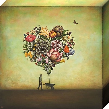 August Grove 'Big Heart Botany' Gallery Print on Wrapped Canvas; 18'' H x 18'' W