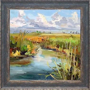 August Grove 'Afternoon Skies' Framed Print; 16'' H x 16'' W