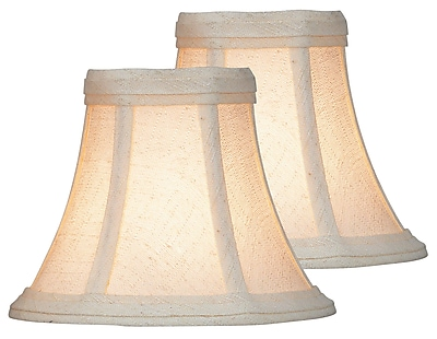 August Grove 6'' Fabric Bell Lamp Shade (Set of 2); Beige