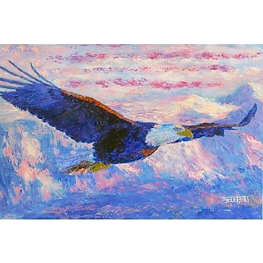 Alcott Hill 'Freedom Bald Eagle' Acrylic Painting Print on Canvas; 20'' H x 30'' W