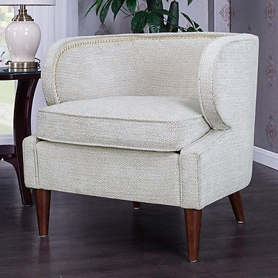 Alcott Hill Landisville Barrel Chair; Beige