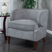 Alcott Hill Landisville Barrel Chair; Gray
