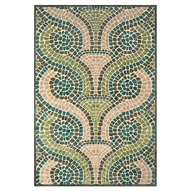 Ebern Designs Denys Cream/Dark Gray Area Rug; 7'6'' x 10'6''