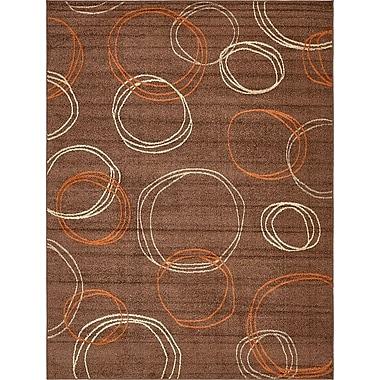 Ebern Designs Bryan Brown Area Rug; 9' x 12'