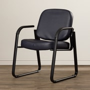 Ebern Designs Galloway Guest Chair; Black