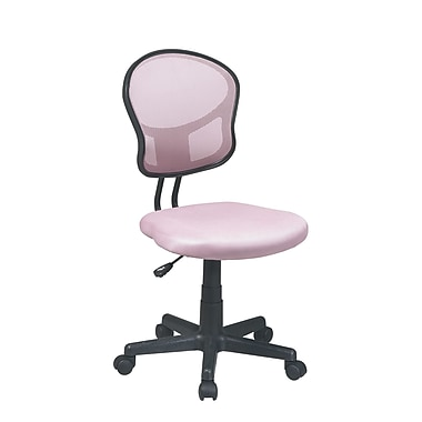 Ebern Designs Mayer Mid-Back Mesh Desk Chair; Pink