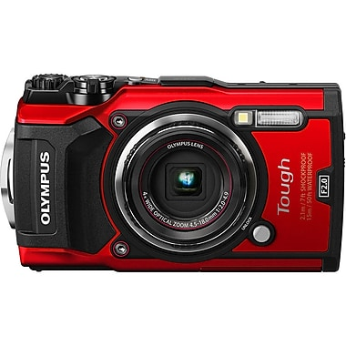 Olympus Tough TG-5 Waterproof Digital Camera, Red (V104190RU000)