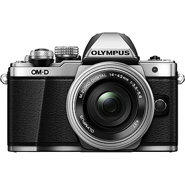 Olympus - Appareil photo OM-D E-M10 Mk II avec objectif 14 à 42 mm, argenté (V207051SU000)