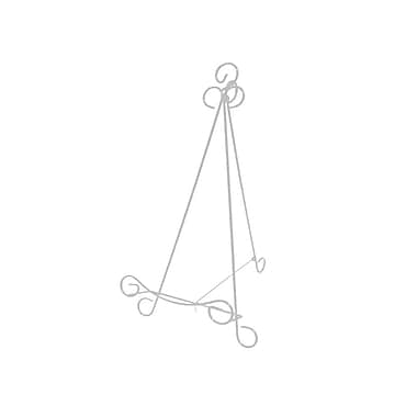 Futech – Chevalet de comptoir en métal MWE005W, 13 1/2 x 7 1/4 x 8 po, blanc, paq./6