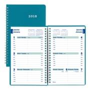 Blueline® – Agenda hebdomadaire Duraflex™ 2018, 8 po x 5 po, aqua