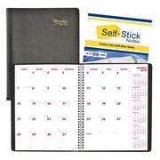 Brownline® – Agenda mensuel Planner Plus 2018, 11 po x 8 1/2 po, noir, anglais