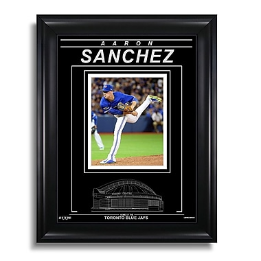Art of the Sport – Photo gravée encadrée d'Aaron Sanchez des Blue Jays de Toronto, Action H, 15 x 19 po