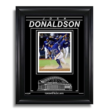 Art of the Sport – Photo encadrée gravée de Josh Donaldson des Blue Jays de Toronto, glissé vers la ligue de 2016, 15 x 19 po