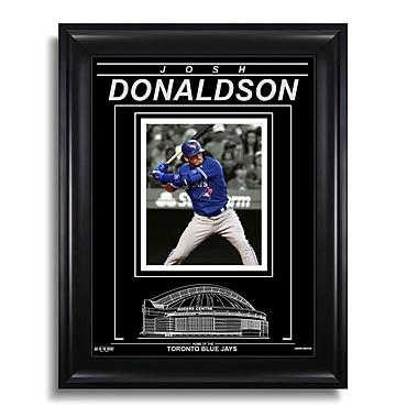 Art of the Sport Josh Donaldson Toronto Blue Jays Engraved Framed Photo - Spotlight V, 15