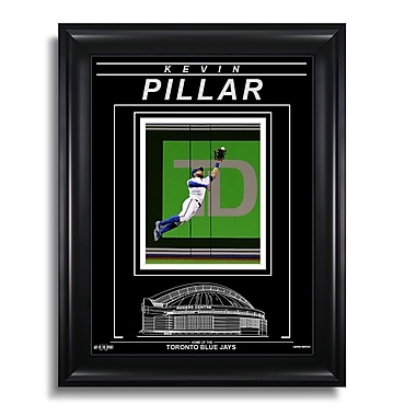 Art of the Sport Kevin Pillar Toronto Blue Jays Engraved Framed Photo - Action Catch, 15