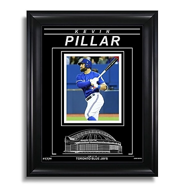 Art of the Sport – Photo gravée encadrée de Kevin Pillar des Blue Jays de Toronto, coup en action, 15 x 19 po