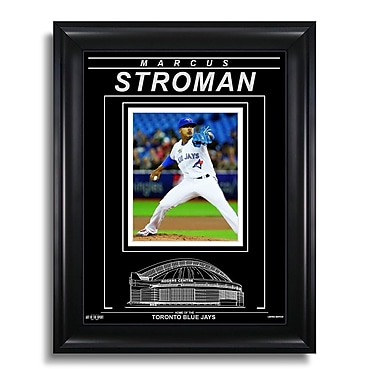 Art of the Sport Marcus Stroman Toronto Blue Jays Engraved Framed Photo - Action Pitch H, 15