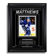 "Art of the Sport Auston Matthews Toronto Maple Leafs Engraved Framed Photo - Action Forward, 15""x19"""